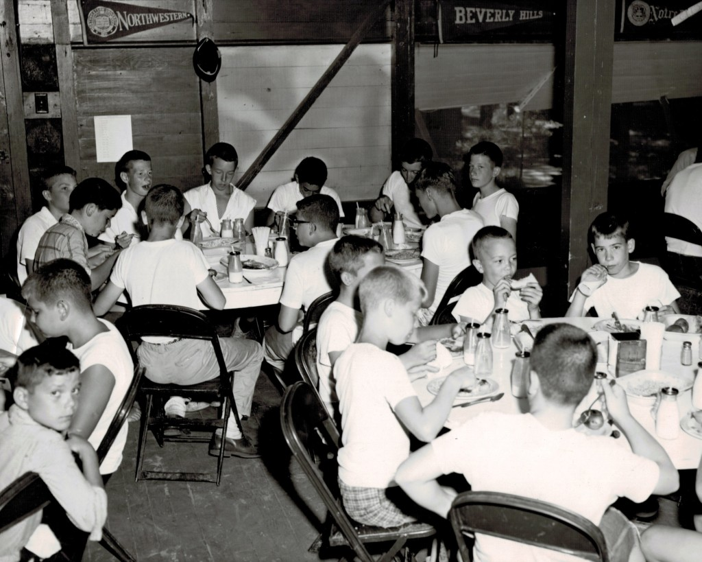 Boys in the dining hall, August 4, 1961